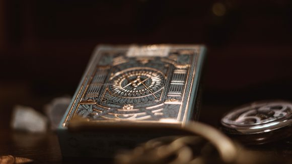 Freemason book in selective focus photography